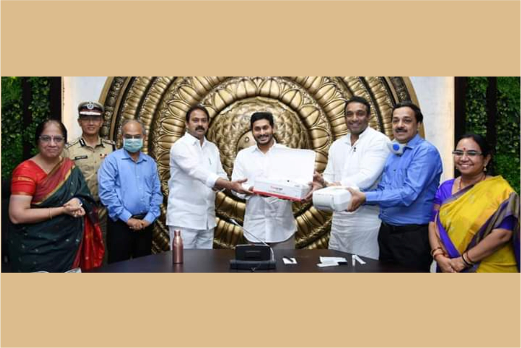Launched COVID 19 Molbio testing kits by Honorable CM at camp office, Tadepalle, Guntur, A.P.