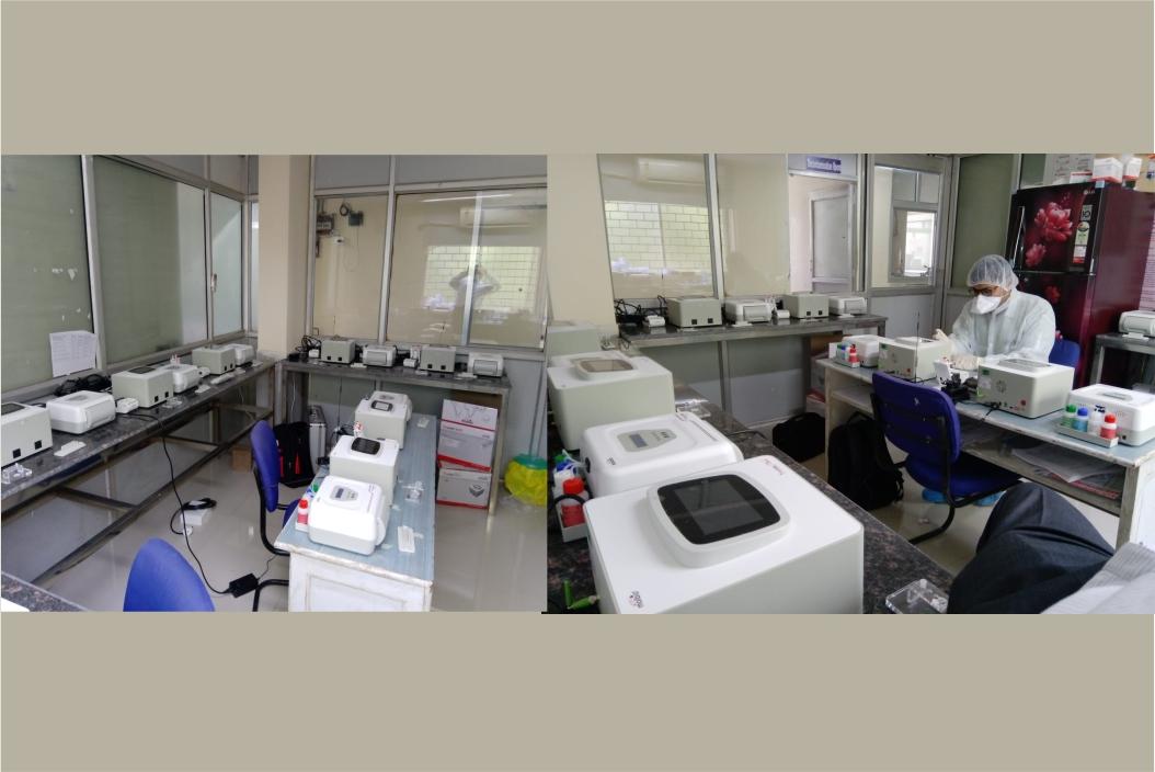 11 Molbio PCR workstations installed at Intermediate Reference Laboratory (IRL) Raipur, Chattisgarh, for COVID 19 testing