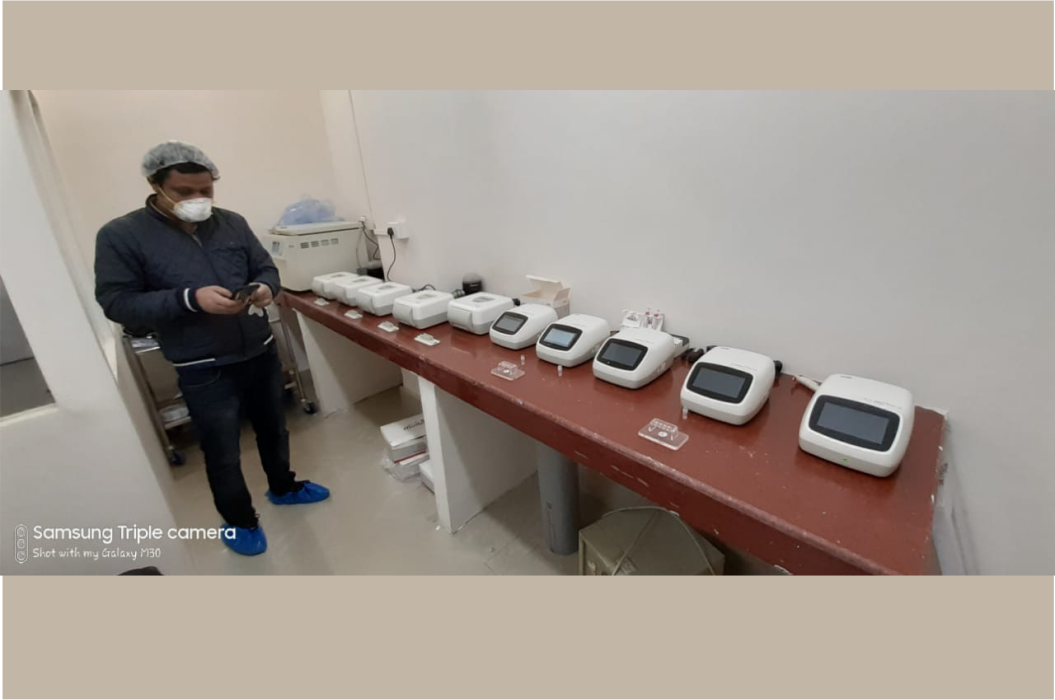 The Health minister of sikkim has inaugurated  4 Truenat machines for COVID19 testing at STNM Hospital, Sikkim
