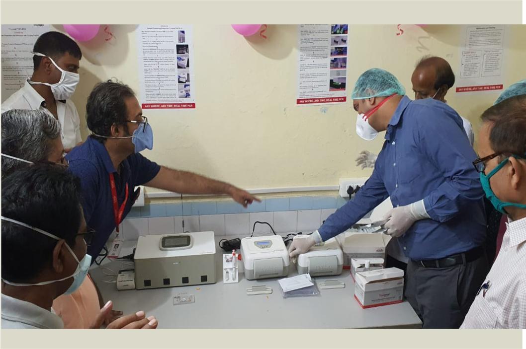 Truenat is installed at Sadar Hospital Khagaria Bihar for COVID 19 Testing