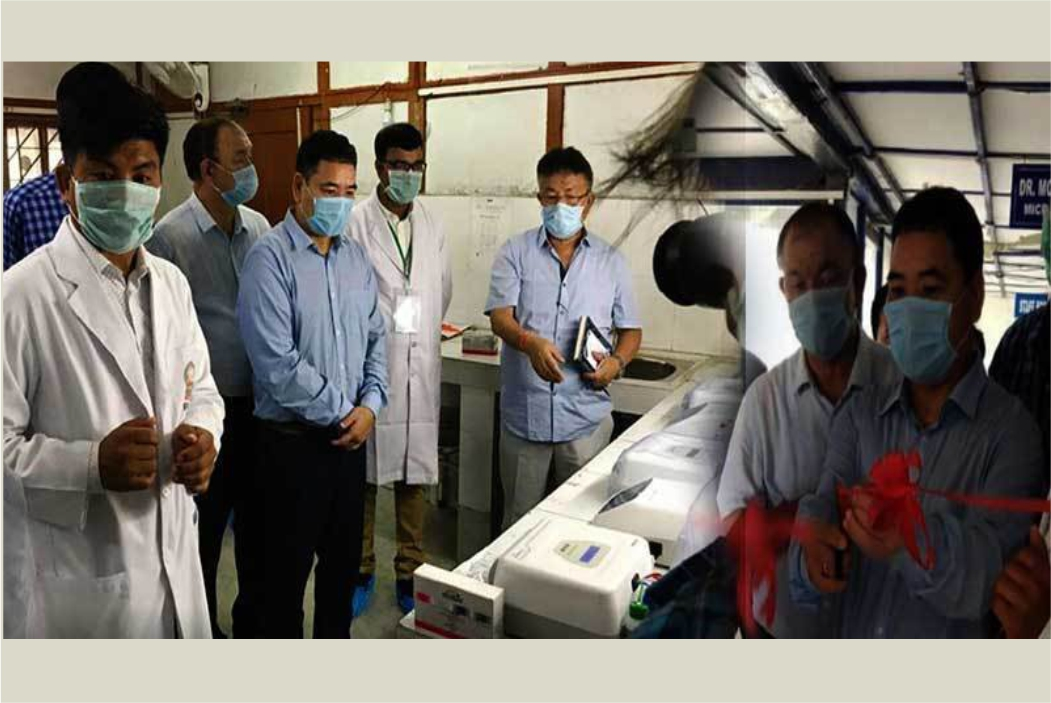 Health Minister Alo Libang inaugurated the State's 2nd COVID-19 testing center at Intermediate Reference Laboratory (IRL), State Tuberculosis Center, Naharlagun