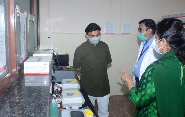 Covid-19 lab set up in Chikkaballapura, Karnataka